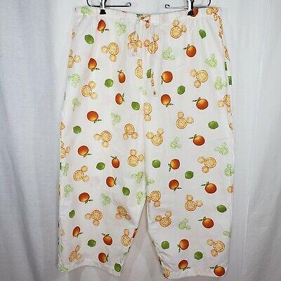 Disney Store Size 2X Pants Women's Pajama Lounge Hidden Mickey Cotton (Citrus Store)