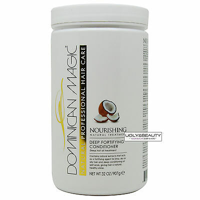 - Dominican Magic Deep Fortifying Conditioner 32 Oz Deep Hot Oil Treatment