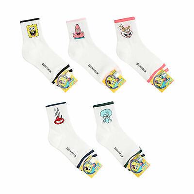 SPONGEBOB Licensed Socks 5 Pairs set Stripe Socks for Womens