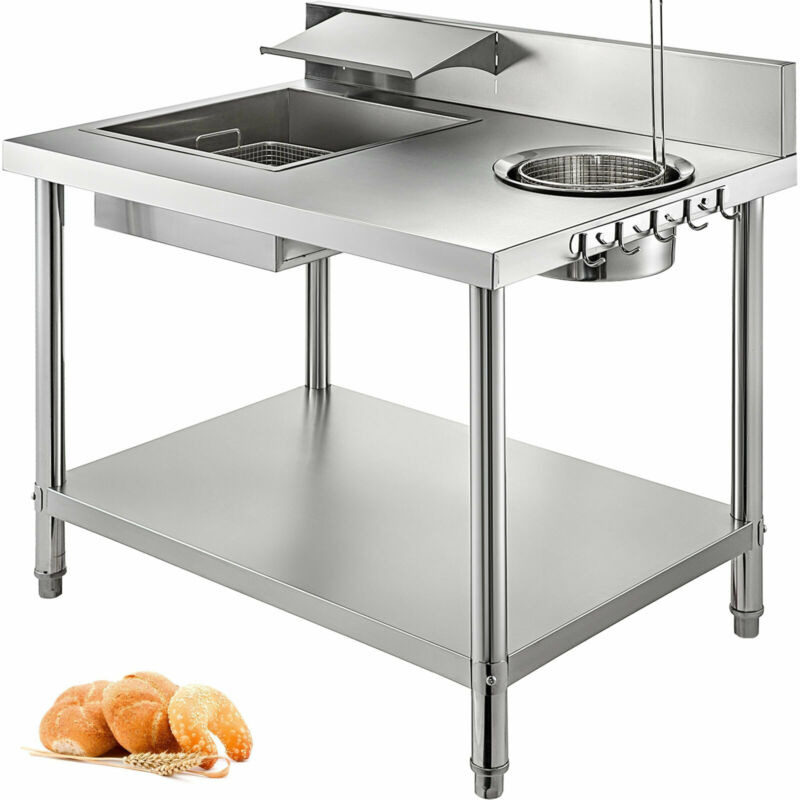 Breading Station Table Breader/Sifter/Blender Commercial Fried Chicken Vegetable