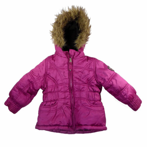 Protection System Girl's Pink Faux Fur Hoodie Jacket Size 2
