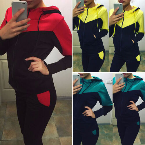 Damen Trainingsanzug Jogginganzug Jogging Fitness Sportanzug Sweat Pullover Hose