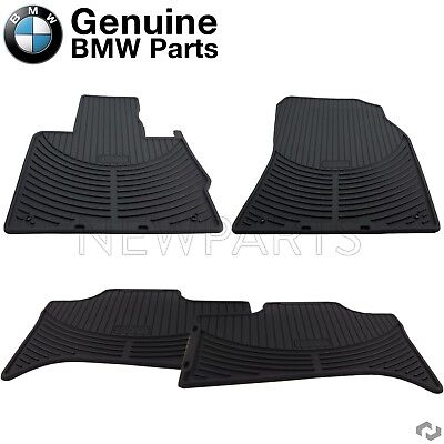 For E53 X5 00 06 Set of Front  Rear Floor Mat Sets Black All Weather Genuine