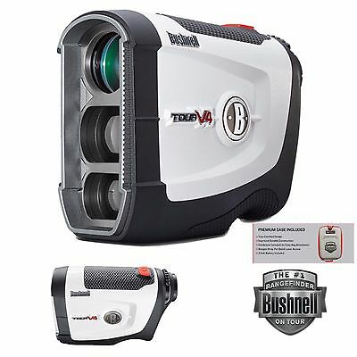 BUSHNELL TOUR V4 GOLF LASER RANGEFINDER JOLT TECHNOLOGY + CASE+ BATTERY