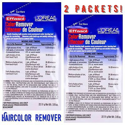 Used, (2 PACK) L'Oreal Effasol Hair Color Dye Remover Wash Away Permanent Hair 0.87oz  for sale  Hayward