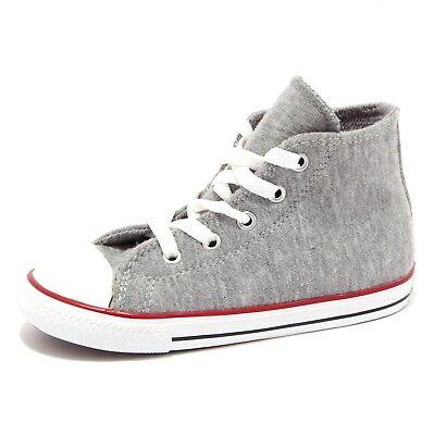 Details about 5136U sneaker bimbo CONVERSE ALL STAR scarpe tessuto grigio shoe kid