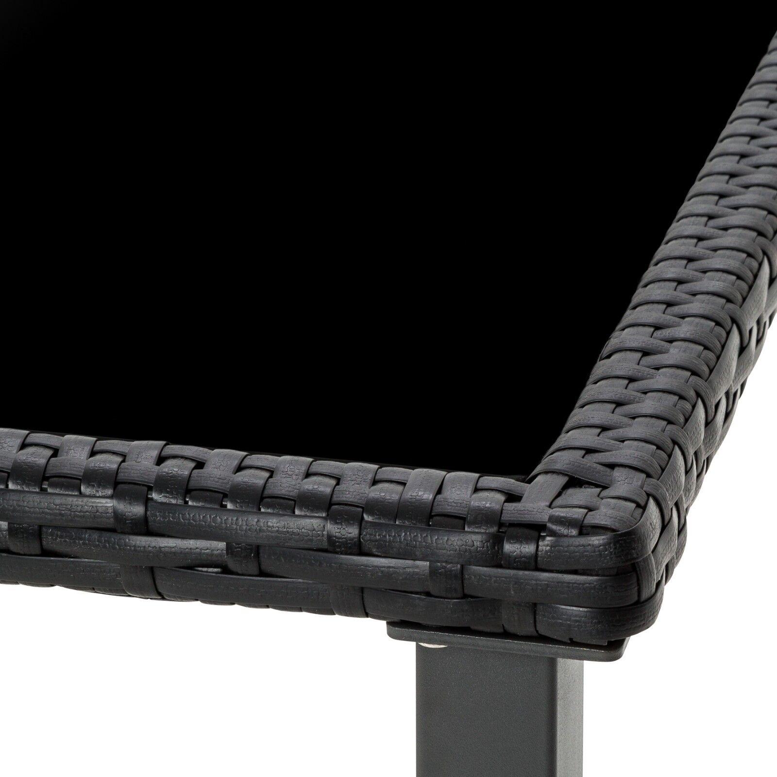 Polyrattan Gartenmobel Set Sitzgarnitur Stuhl Tisch Essgruppe 61 Schwarz Bware