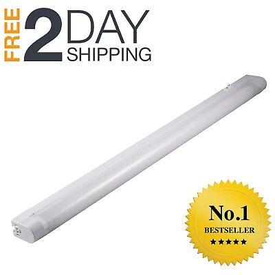 Fluorescent Slim Under Cabinet Lighting - GE Slim 23 Inch Under Cabinet Fluorescent Lighting Kitchen Plug In Warm White