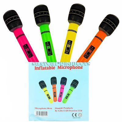 BLOW UP Inflatable Music Instruments Microphone Party Bag Fillers Gift Toys - Blow Up Microphone