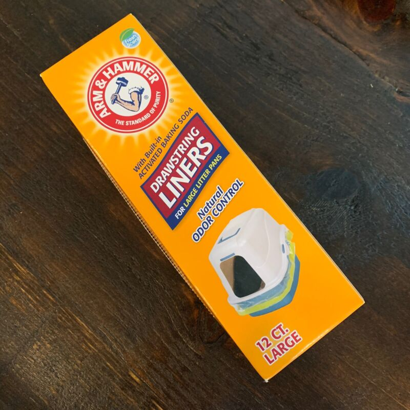 Arm and Hammer Drawstring Liners LARGE 12Ct Cat Litter Fresh Scent