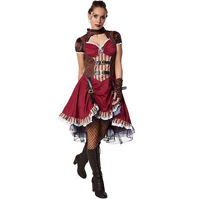 Kostüm Damen Steampunk Edelfrau Gothic viktorianisch Retro Fasching Karneval