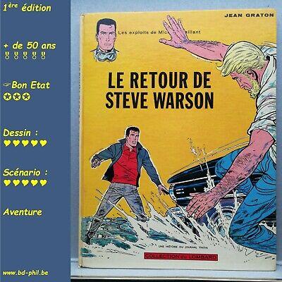 Michel Vaillant, 9, Le retour de Steve Warson, Graton, Lombard, EO, 1965, BE, C