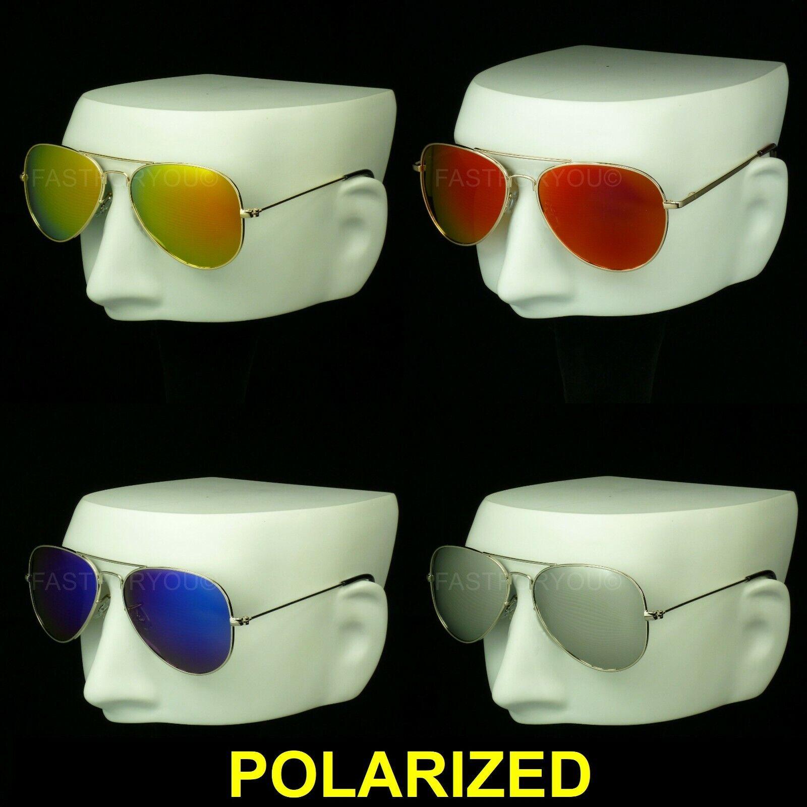 Polarized aviator sunglasses mirror lens drive fish new men