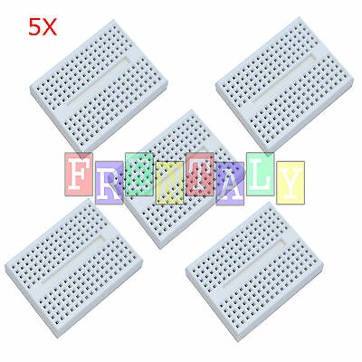 5pcs White 170 Tie-point Prototype Solderless PCB Breadboard for Arduino DIY
