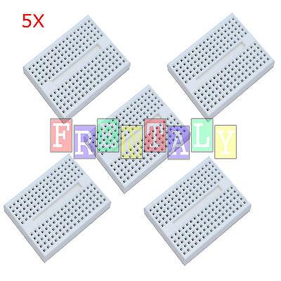 5pcs 5x White 170 Tie-points Mini Solderless Prototype Breadboard For Arduino