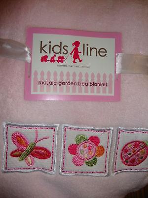 Garden Boa Blanket (NEW KIDSLINE MOSAIC GARDEN PINK BABY BOA)