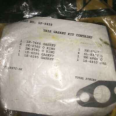 Caterpillar Turbo Gasket Kit Pt 5p-9458 Cat Seal O-ring --- New Old Stock