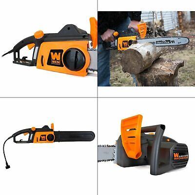 16 in. 12 amp electric chainsaw | wen lightweight tool corde