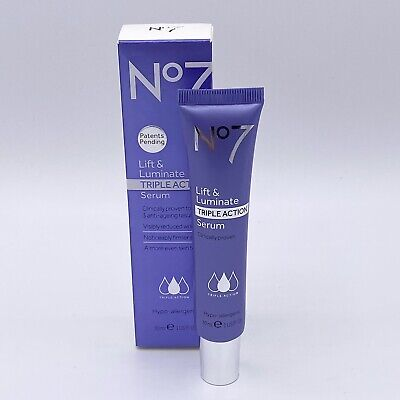 Boots No7 Lift & Luminate Triple Action Serum 30 - Anti Ageing Results - 1 Fl Oz