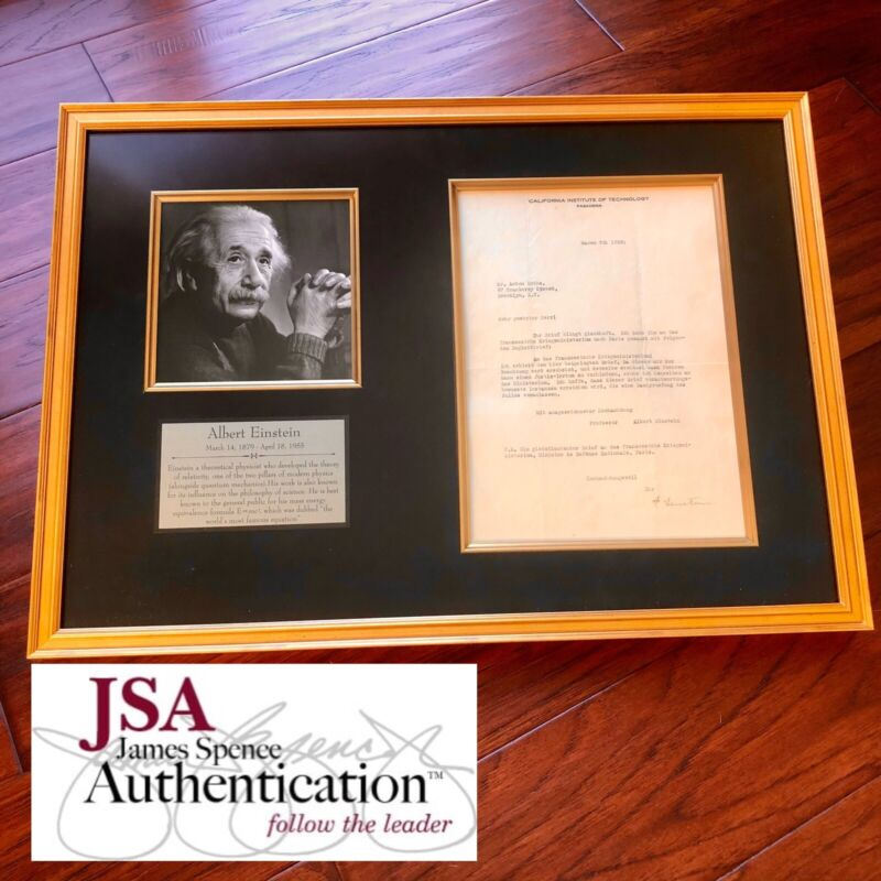 ALBERT EINSTEIN * JSA LOA * Autograph Letter Signed While Fleeing Nazi Germany