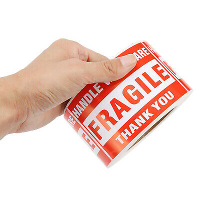 500 Pcs 3x5 Fragile Stickers Handle With Care Warning Mailing Shipping Labels