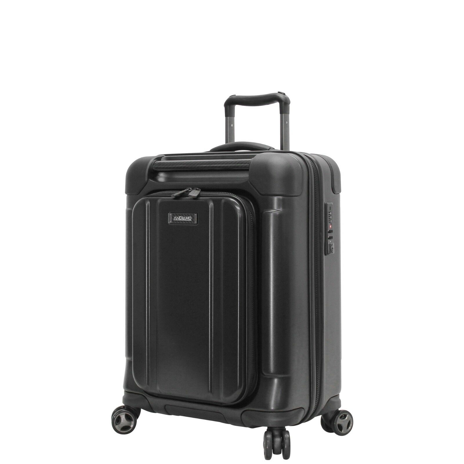 "NEW Andiamo Pantera 20"" Hard Cas Carry-On Luggage With Spinn"