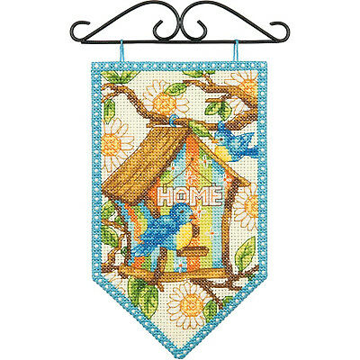 Dimensions Counted Cross Stitch Kit ~ Debbie Mumm Spring Mini Banner #72-74133