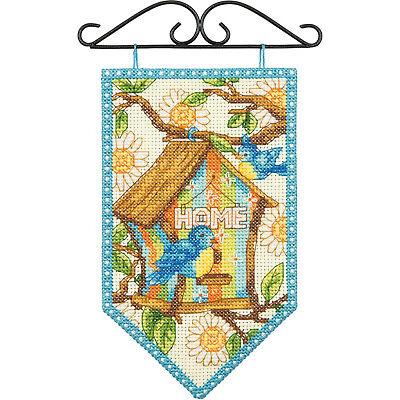 "Debbie Mumm Spring Banner Counted Cross Stitch Kit-5""X8"" 14"