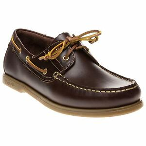 New-Mens-Wrangler-Brown-Ocean-Leather-Shoes-Boat-Lace-Up
