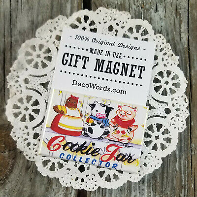 Cookie Jar Collector * Gift Fridge MAGNET New USA DecoWords cooking cookiejar