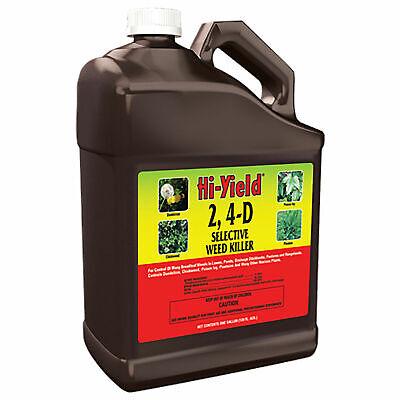 1 Weed Killer - 1 Gal Hi-Yield 2, 4-D Selective Broadleaf Weed Killer For Lawns Pastures 21416