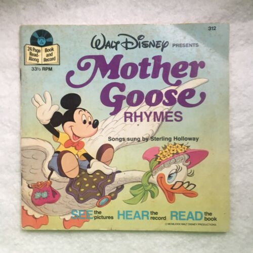 Disney Read Along Book with Record 33 RPM (#312)