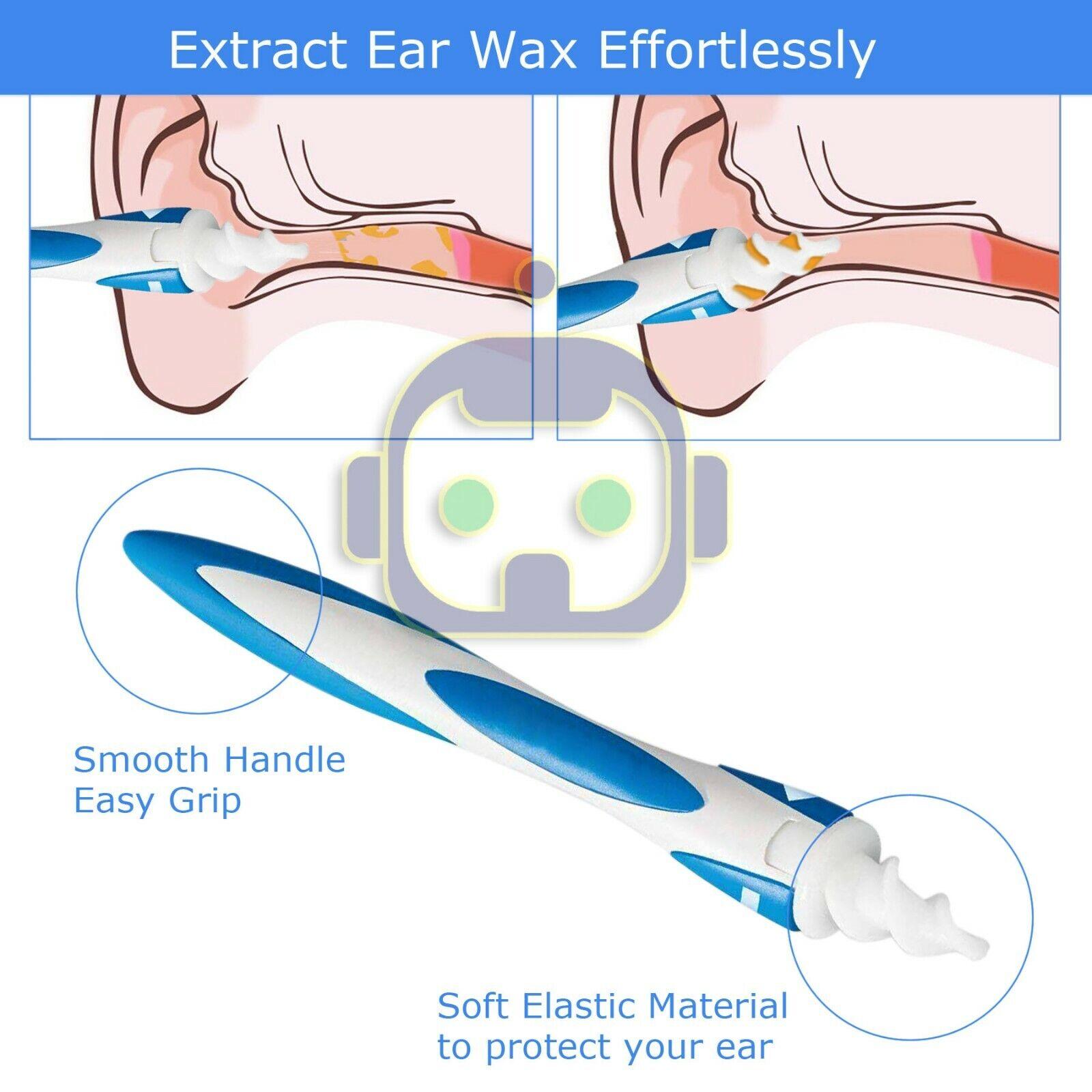 Mutifunctional Easy Spiral Earwax Removal Ear Swab Cleaner S