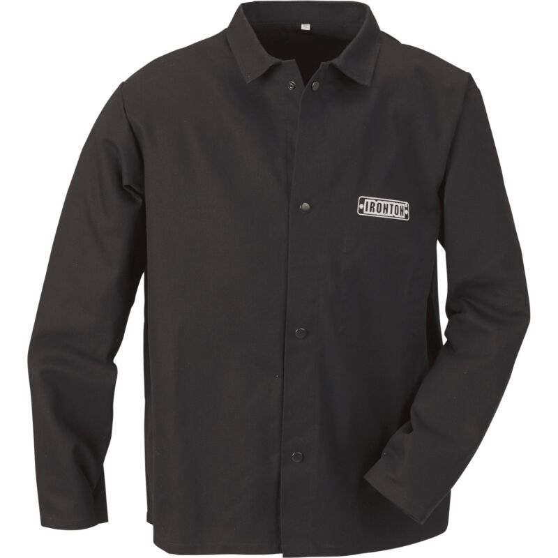 Ironton Flame-Resistant Welding Jacket-Medium, Black