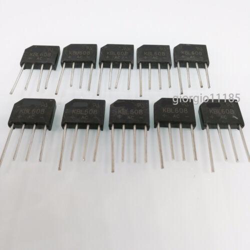 US Stock 10pcs KBL608 KBL-608 6A 800V  Bridge Rectifier