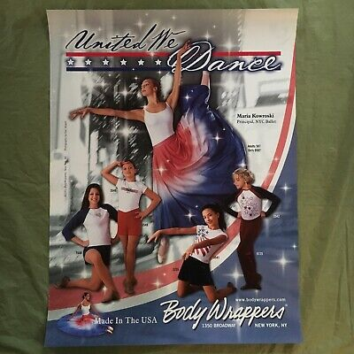 vintage BODY WRAPPERS promo poster--MARIA KOWROSKI nyc ballet--UNITED WE DANCE