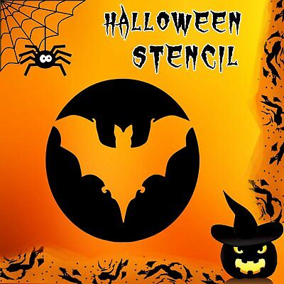 Bat Halloween Mylar Painting Pumpkin Wall Art Stencil - Halloween Bat Stencils Pumpkins