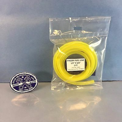 "NEW TYGON YELLOW FUEL LINE HOSE 1/4"" PRE-CUT 5 FT SEA-DOO KAWASAKI YAMAHA"