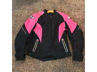 Jet Womens Ladies Motorcycle Motorbike Trousers Leggings Aramid Kevlar Lined CE Armoured LUNA 8 - Long, Black