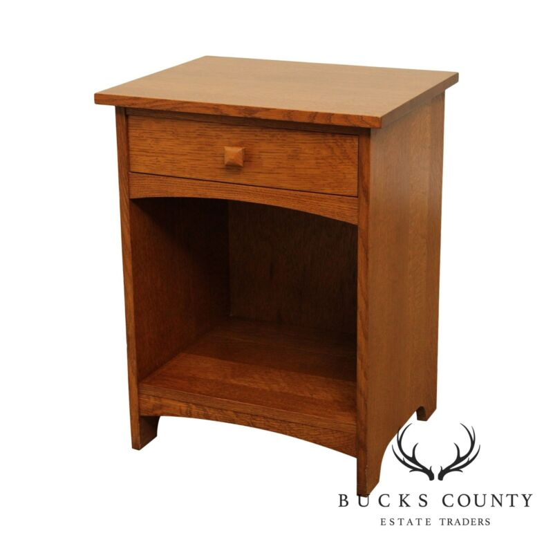 Stickley Mission Collection Oak One Drawer Nightstand