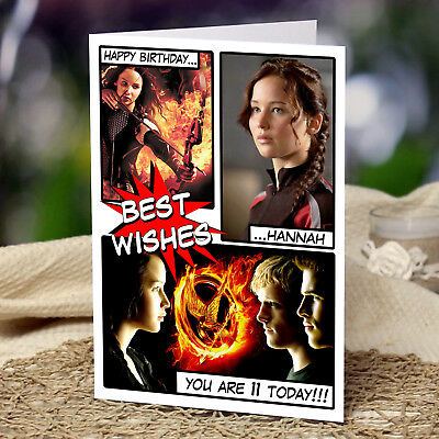 HUNGER GAMES - Personalised Birthday Card - PREMIUM Quality, FREE Shipping