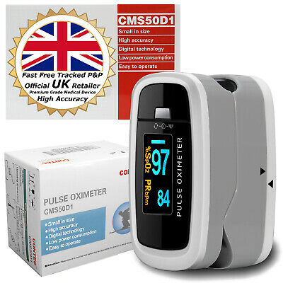 Contec D1 Oled Fingertip Pulse Oximeter Blood Oxygen Heart Rate Spo2 Moniter Uk