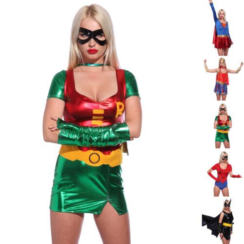 Damen Fasching Kostüm Wonder Super Woman Supergirl Heroes Outfit Kostüm Kleider