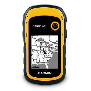 NEW GARMIN ETREX 10 HANDHELD OUTDOOR HIKING GPS RECEIVER 010-00970-00