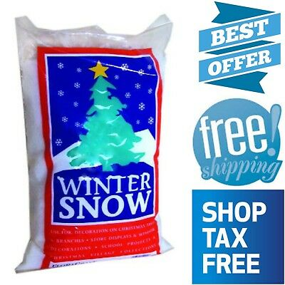 Winter Snow Decorations (Plastic Fake Snow Artificial Fluffy Powder Winter Home Photo Shoot Decor 4)
