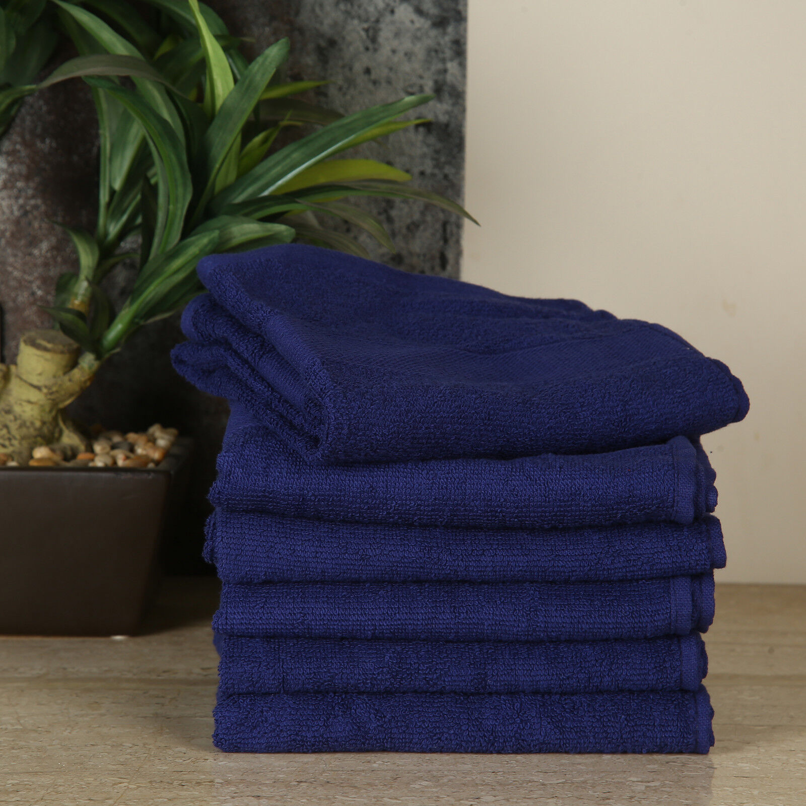 Blue Bathroom Hand Towels for Home Hotel and Spa Luxury Qual