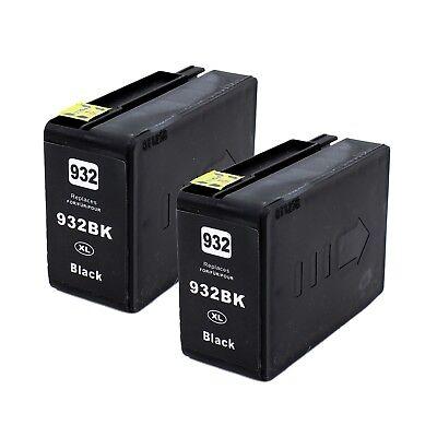 2pk 932xl black ink cartridge for hp