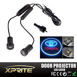 2x LED Car Door Laser Projector Ghost Shadow Step Light Logo Toyota Red