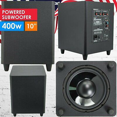10 down fire active powered subwoofer home