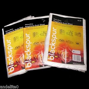 THREE Heavy Duty Dust sheets  for Painting Decorating And protecting your items